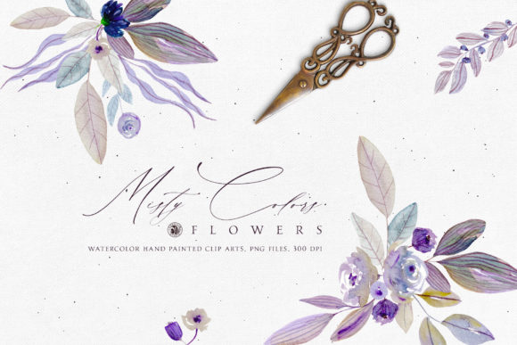 Misty Colors Flowers Graphic Illustrations By webvilla