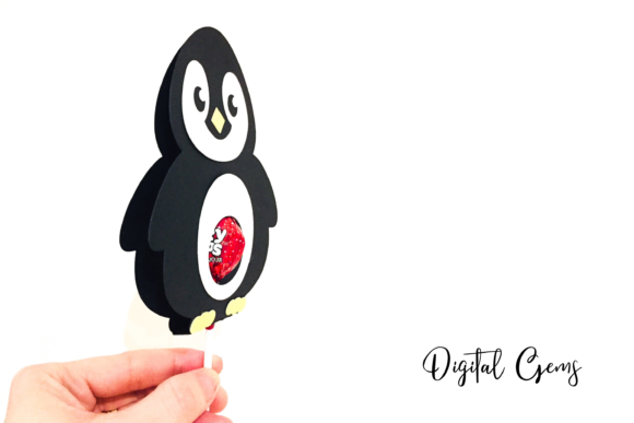 Download Free Penguin Lollipop Holder Design Graphic By Digital Gems for Cricut Explore, Silhouette and other cutting machines.