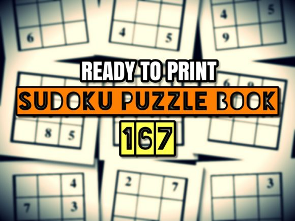 Download Free Print Ready Sudoku Puzzle Book Vol 167kd Graphic By SVG Cut Files
