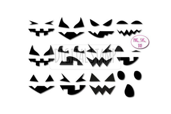 Download Free Pumpkin Face Jack O Lantern Graphic By Bunart Creative Fabrica for Cricut Explore, Silhouette and other cutting machines.