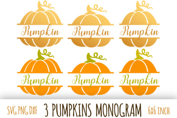 Download Free Pumpkin Monogram Thanksgiving Graphic By Bunart Creative Fabrica for Cricut Explore, Silhouette and other cutting machines.