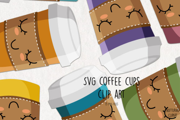 Download Free Coffee Cups Clip Art Graphic By Notturnoclipart Creative Fabrica for Cricut Explore, Silhouette and other cutting machines.