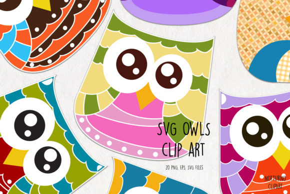 Owls Clip Art Graphic Crafts By NotturnoClipArt