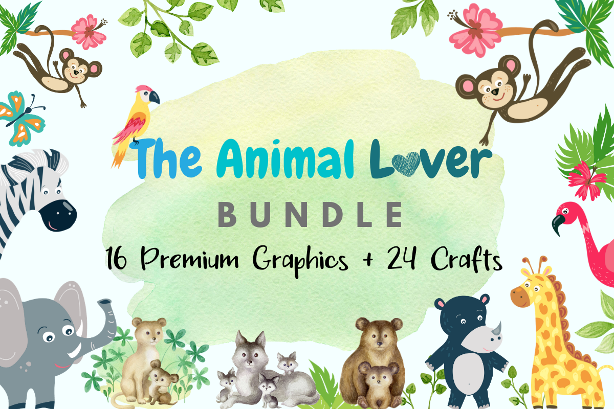 Download Free The Animal Lover Bundle Bundle Creative Fabrica for Cricut Explore, Silhouette and other cutting machines.