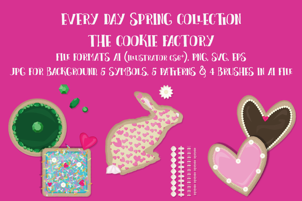 Download Free The Cookie Factory Graphic By My Little Black Heart Creative for Cricut Explore, Silhouette and other cutting machines.