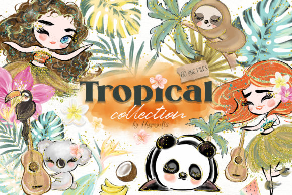 Tropical Illustration Graphic Illustrations By Hippogifts