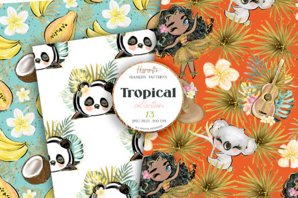 Tropical Summer Patterns Graphic Patterns By Hippogifts - Image 3