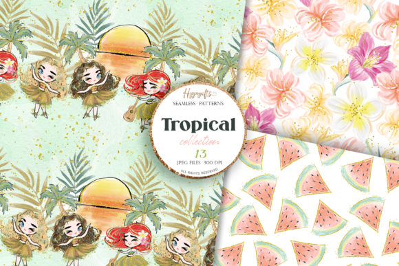 Tropical Summer Patterns Graphic Patterns By Hippogifts - Image 4