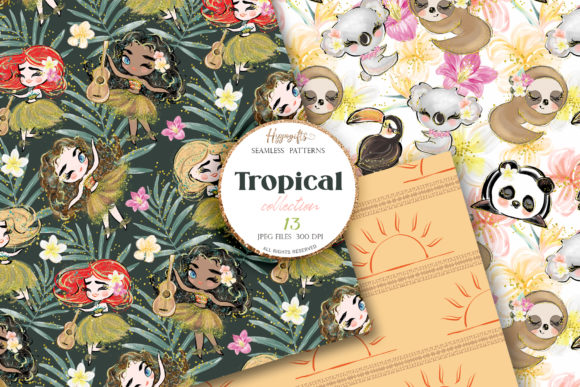 Tropical Summer Patterns Graphic Patterns By Hippogifts - Image 5