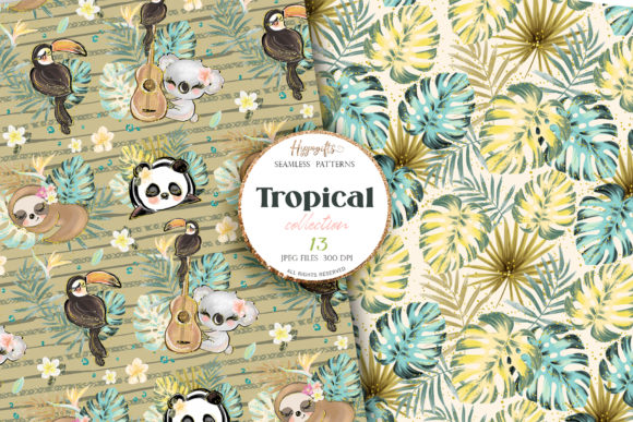 Tropical Summer Patterns Graphic Patterns By Hippogifts - Image 6