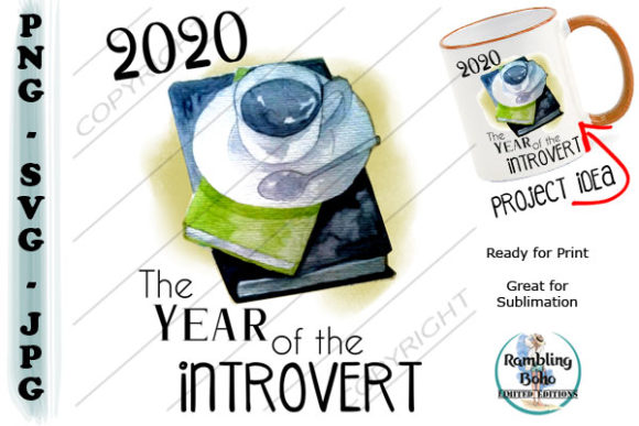 Year Od the Introvert Graphic Illustrations By RamblingBoho