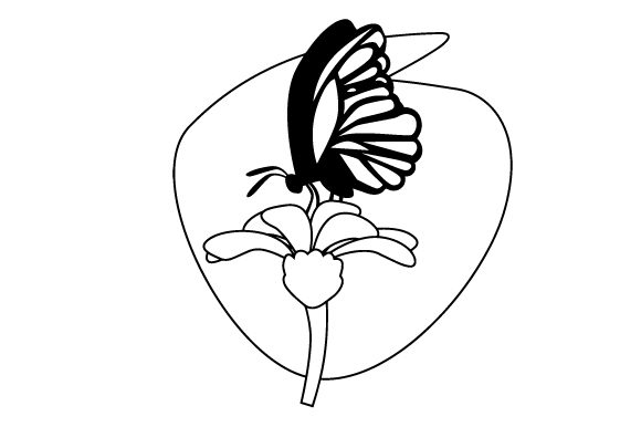 Download Free Butterfly On Flower Svg Cut File By Creative Fabrica Crafts for Cricut Explore, Silhouette and other cutting machines.