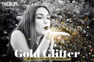 40 Blowing Glitter Photoshop Overlays Graphic Layer Styles By Marcela Garza