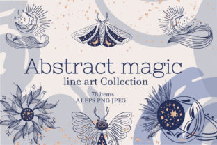 Abstract Magic Line Art Collection Graphic Objects By Tatyana_Zenartist