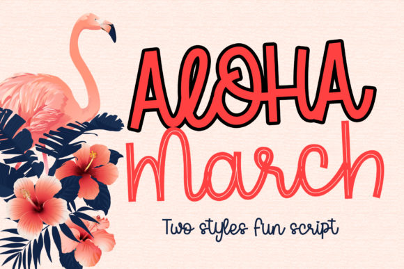 Print on Demand: Aloha March Manuscrita Fuente Por dmletter31