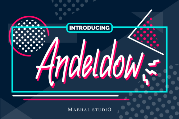 Print on Demand: Andeldow Display Font By Mabhal Studio