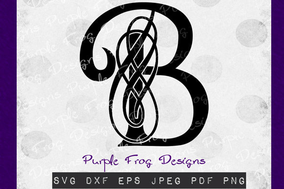 Download Free B Monogram Filigree Monogram Graphic By Heather Terry Creative Fabrica for Cricut Explore, Silhouette and other cutting machines.