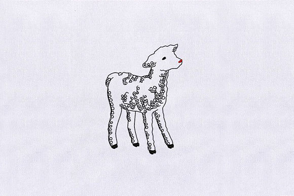 Baby Goat Baby Animals Embroidery Design By DigitEMB