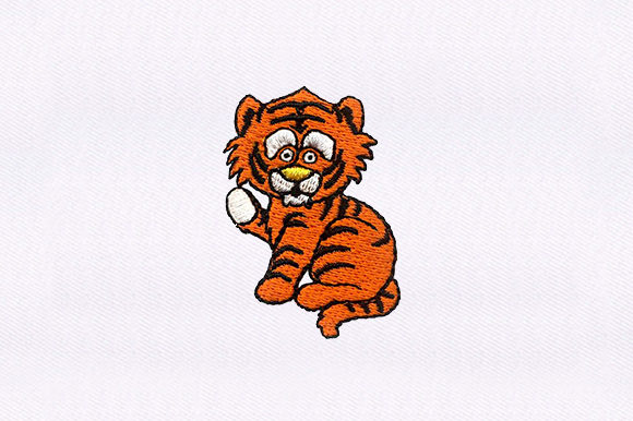 Baby Tiger Baby Animals Embroidery Design By DigitEMB