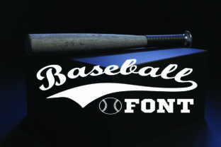Print on Demand: Baseball Display Font By KtwoP