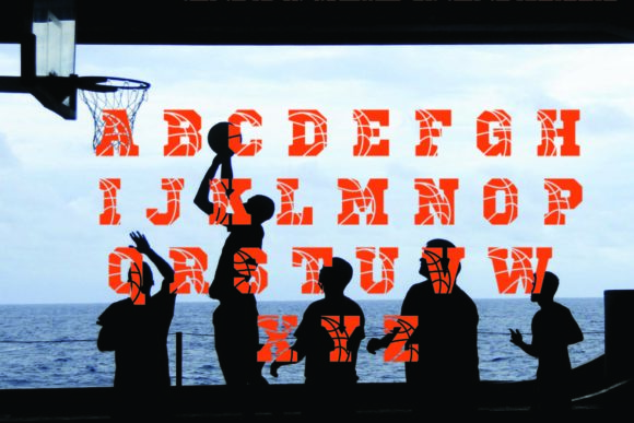 Print on Demand: Basketball Display Font By KtwoP - Image 2