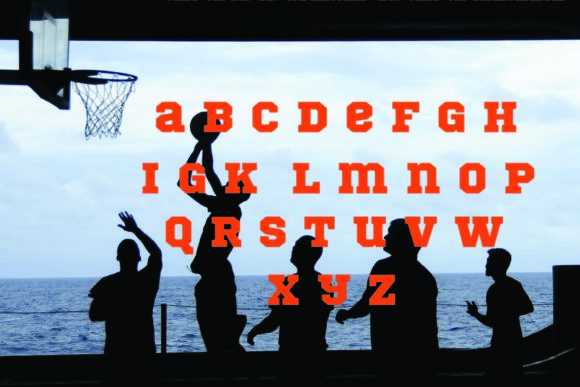 Print on Demand: Basketball Display Font By KtwoP - Image 3