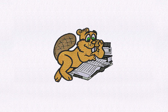 Beaver Woodland Animals Embroidery Design By DigitEMB