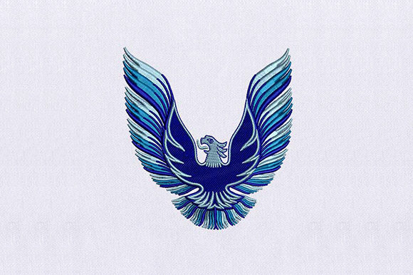 Blue Bald Eagle Birds Embroidery Design By DigitEMB