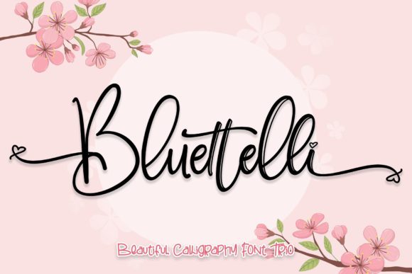 Print on Demand: Bluettelli Script & Handwritten Font By thomasaradea