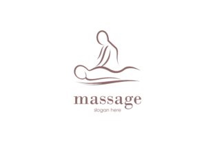 Download Free Body Massage Logo Vector Illustration Graphic By Deemka Studio for Cricut Explore, Silhouette and other cutting machines.