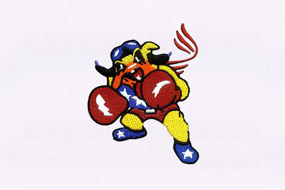 Boxing Bulldog Dogs Embroidery Design By DigitEMB