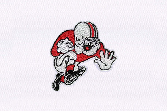 Bulldog Football Dogs Embroidery Design By DigitEMB