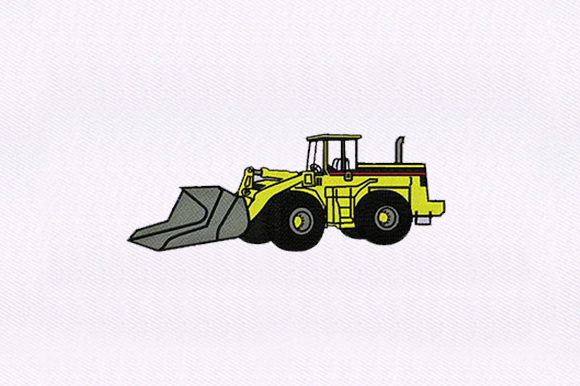 Bulldozer Transportation Embroidery Design By DigitEMB
