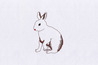 Bunny Rabbit Woodland Animals Embroidery Design By DigitEMB
