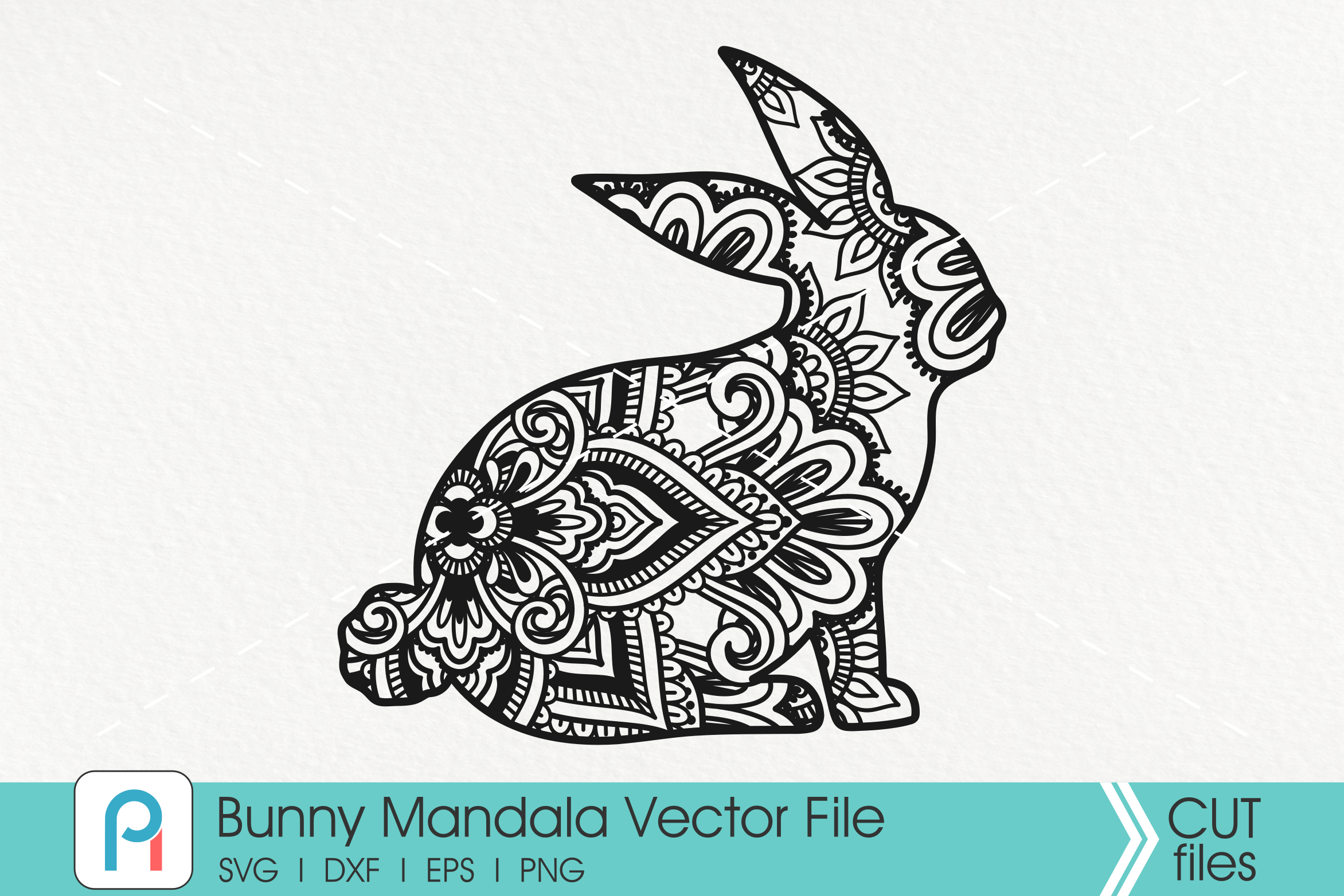 Download Free Bunny Mandala Graphic By Pinoyartkreatib Creative Fabrica for Cricut Explore, Silhouette and other cutting machines.