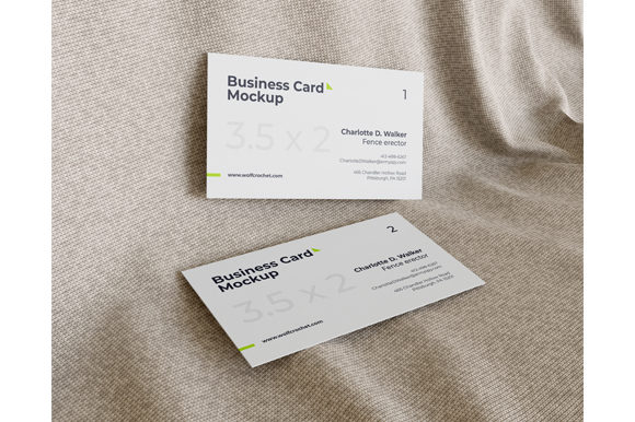 Business Card Mockup On Fabric Graphic By Muhazdinata Creative