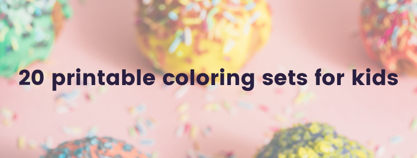 20 printable coloring sets for kids