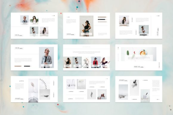 Download Free Card Portfolio Google Slides Template Graphic By Stringlabs for Cricut Explore, Silhouette and other cutting machines.
