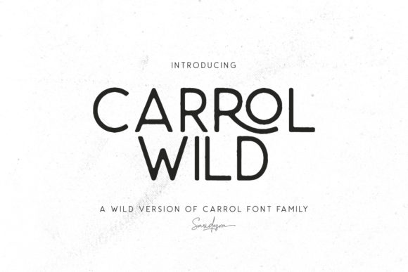 Print on Demand: Carrol Wild Display Font By saridezra