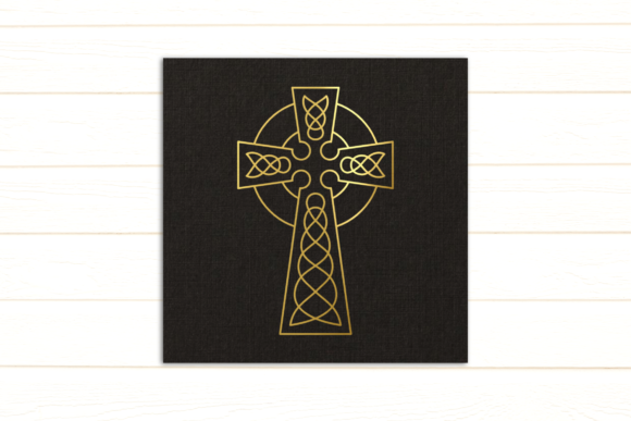 Celtic Cross Single Line Sketch Graphic Crafts By RisaRocksIt