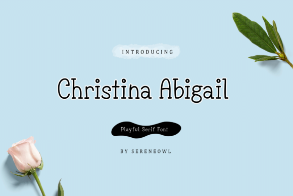 Print on Demand: Christina Abigail Serif Font By sereneowl - Image 4