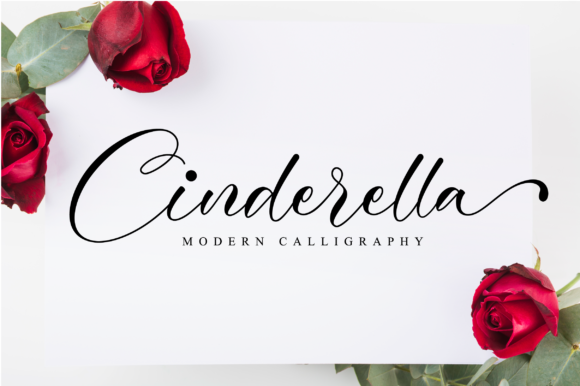 Print on Demand: Cinderella Script & Handwritten Font By NissaStudio