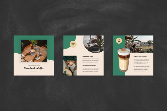 Download Free Coffee Shop Instagram Post Keynote Graphic By Stringlabs for Cricut Explore, Silhouette and other cutting machines.