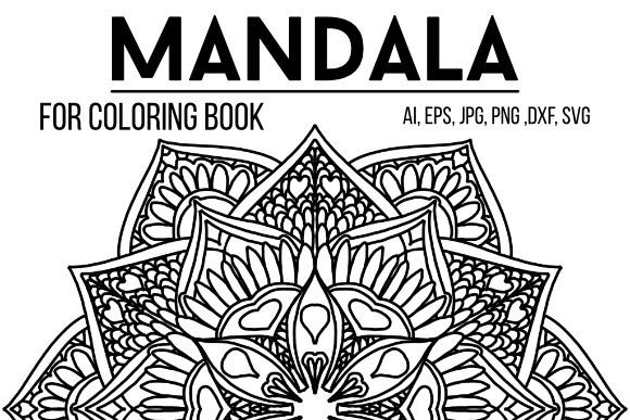 Print on Demand: Coloring Book Mandala Graphic Coloring Pages & Books Adults By stanosh - Image 1