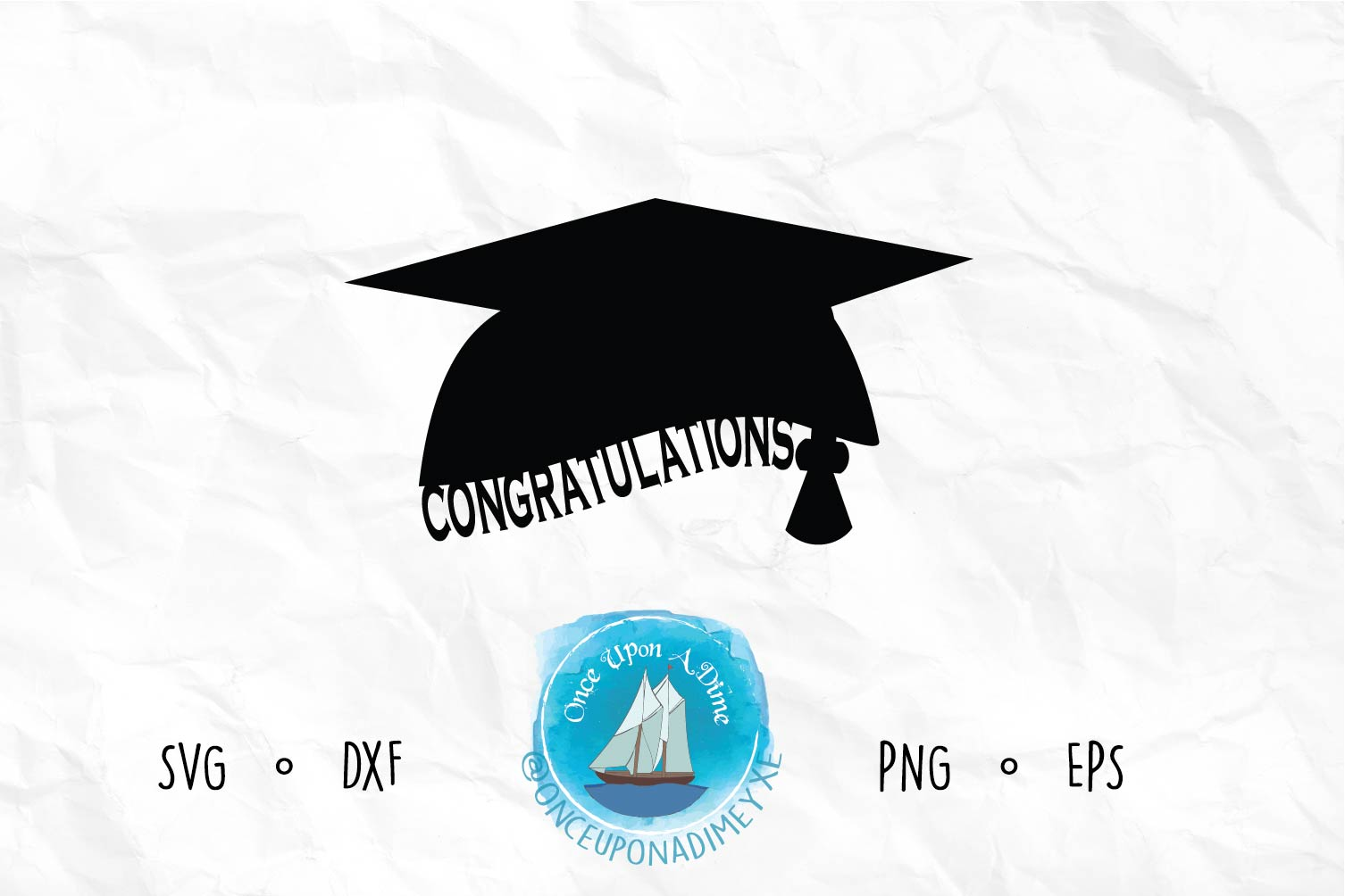 Download Free Congratulations Grad Graduation Graphic By Onceuponadimeyxe for Cricut Explore, Silhouette and other cutting machines.