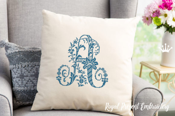 Cross-Stitch Capital Letter a Wedding Monogram Embroidery Design By ludmila.konovalova