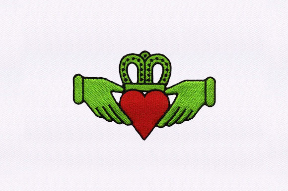 Crown Heart Valentine's Day Embroidery Design By DigitEMB