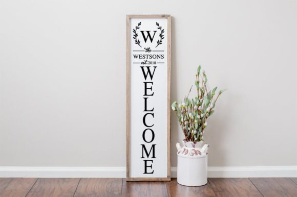 Download Free Customizable Family Front Porch Sign Graphic By Simply Cut Co for Cricut Explore, Silhouette and other cutting machines.