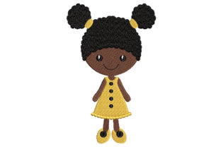 Print on Demand: Cute Black Girl Boys & Girls Embroidery Design By Embroidery Shelter