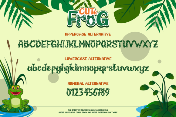 Print on Demand: Cute Frog Display Font By afredo.fk - Image 4
